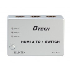 HDMI SWITCH 3 вх/1 вых DT-7018 Dtech
