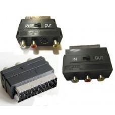 Адаптер Scart-3RCA с переключателем